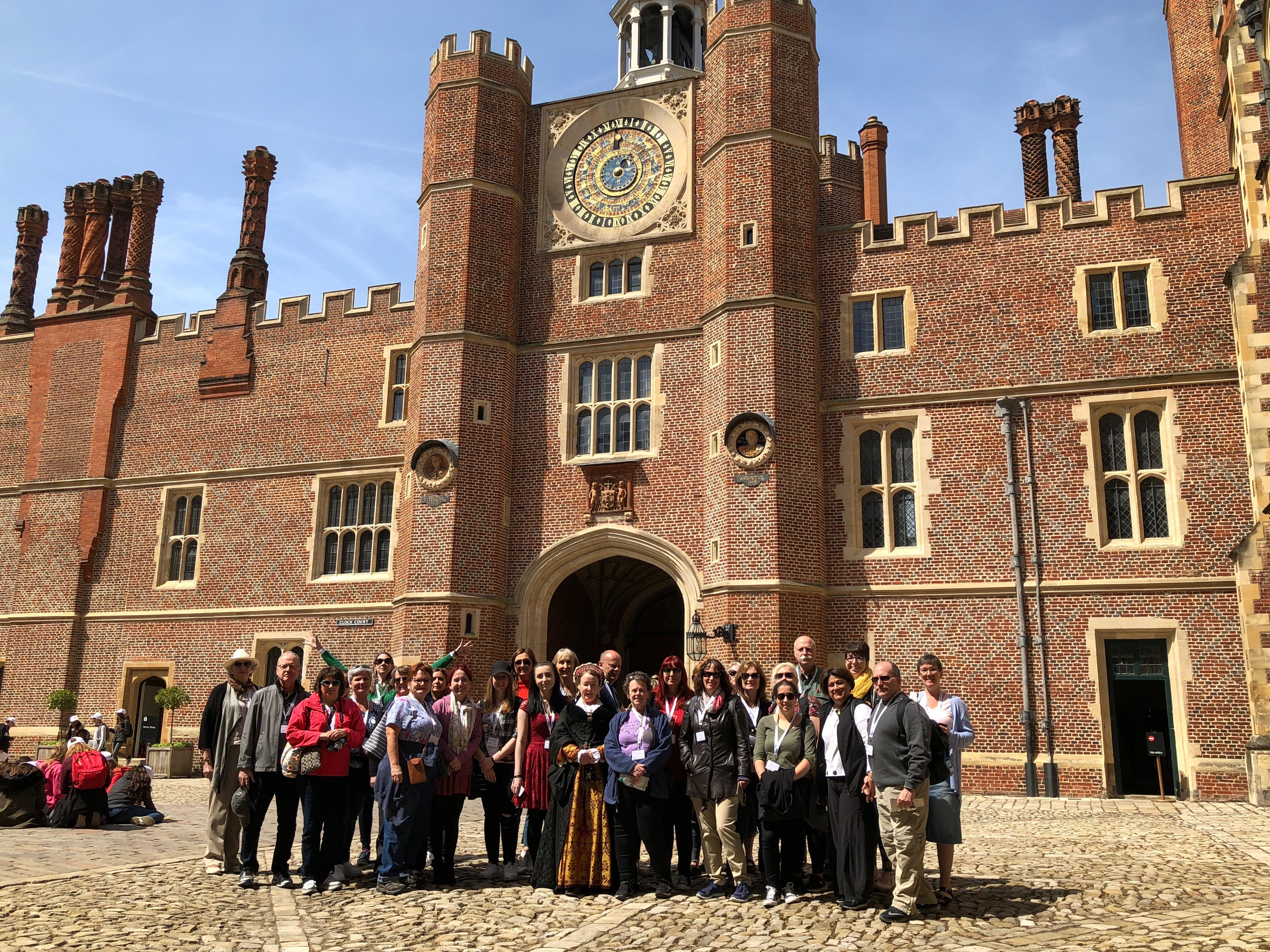 The group at Hampton Court Palace