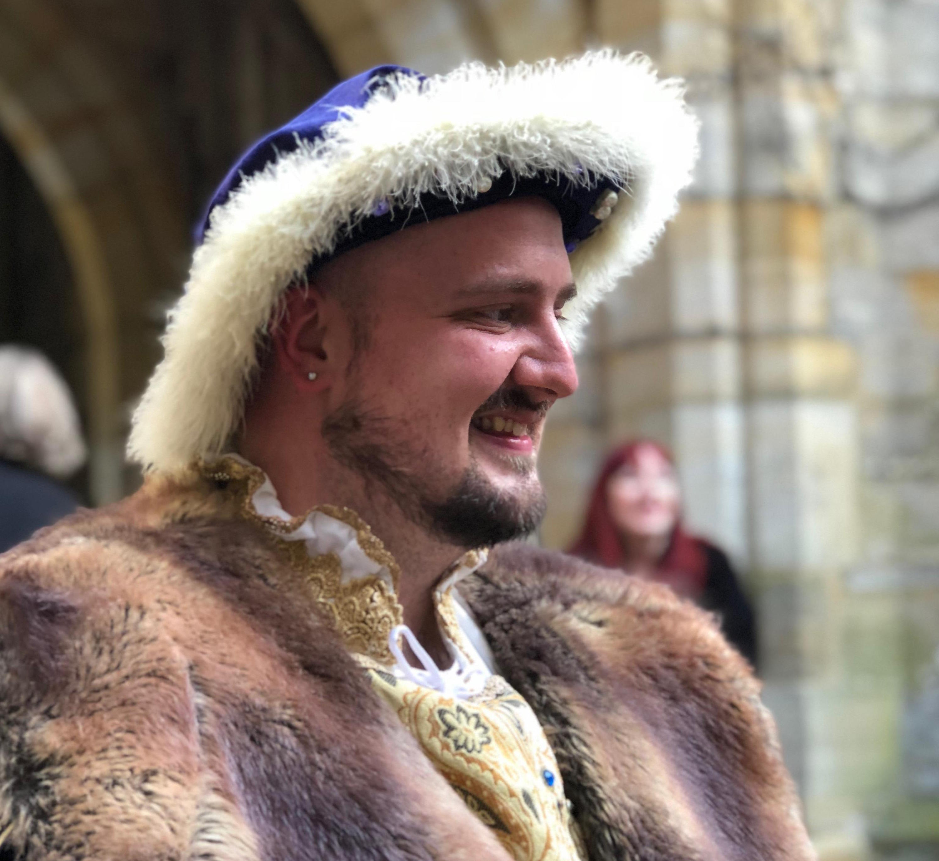 Henry VIII meets us for a drinks reception at Hever Castle