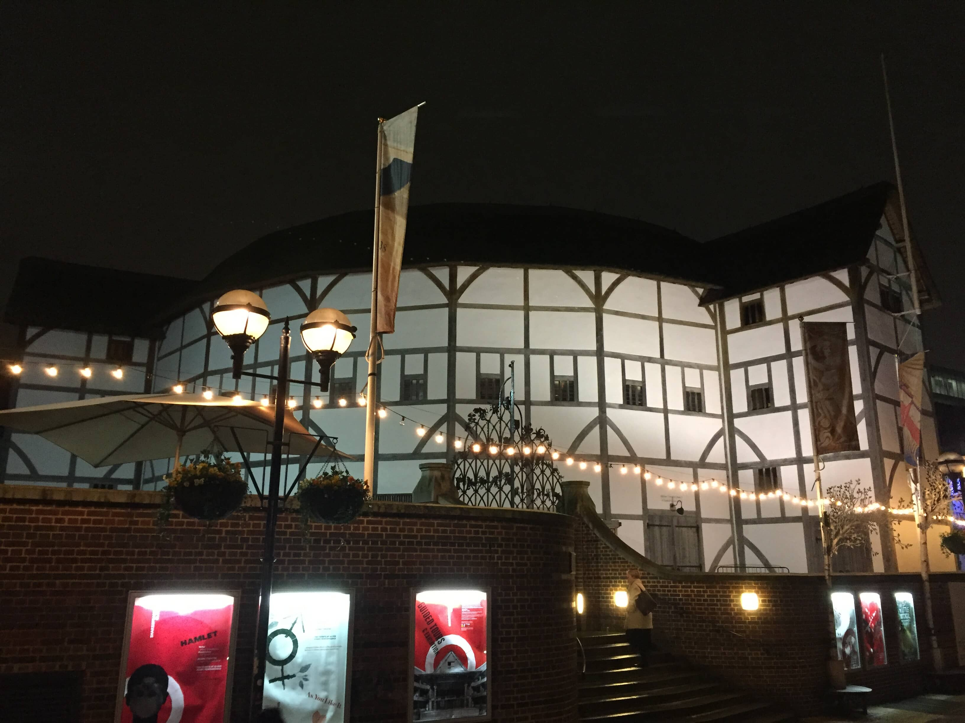 The Globe Theatre at night